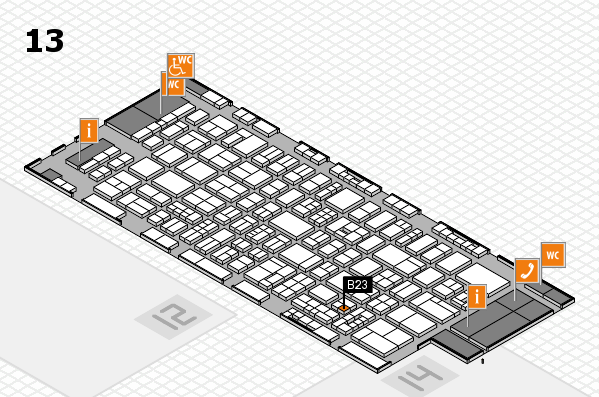 drupa 2016 Hallenplan (Halle 13): Stand B23