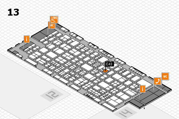drupa 2016 hall map (Hall 13): stand E43