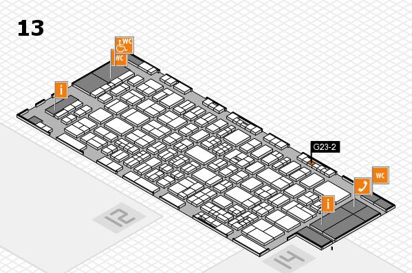 drupa 2016 Hallenplan (Halle 13): Stand G23-2