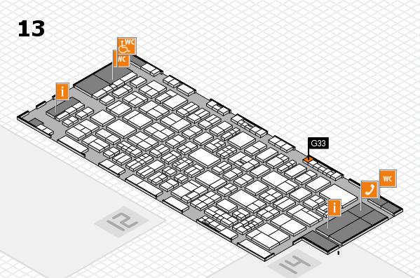 drupa 2016 Hallenplan (Halle 13): Stand G33