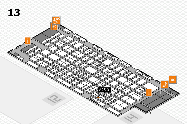 drupa 2016 hall map (Hall 13): stand A25-3