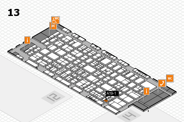 drupa 2016 hall map (Hall 13): stand A19-1