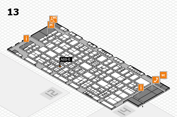 drupa 2016 Hallenplan (Halle 13): Stand A69-6