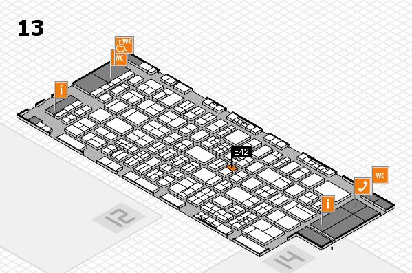 drupa 2016 Hallenplan (Halle 13): Stand E42
