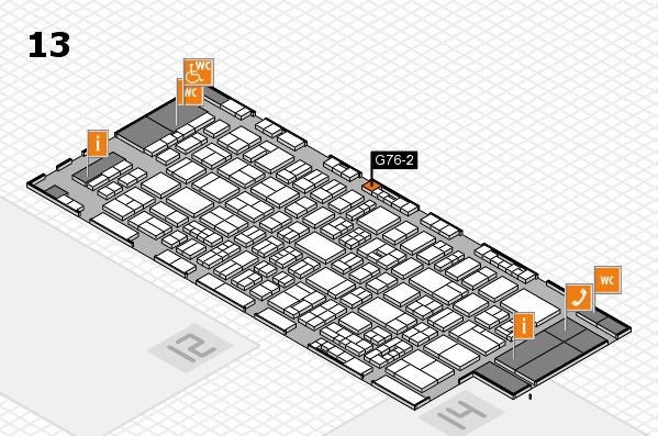 drupa 2016 Hallenplan (Halle 13): Stand G76-2