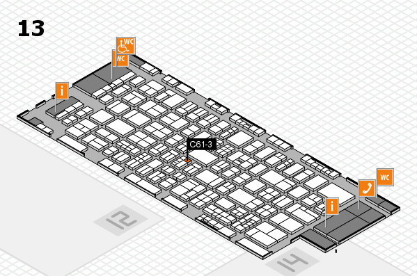 drupa 2016 hall map (Hall 13): stand C61-3