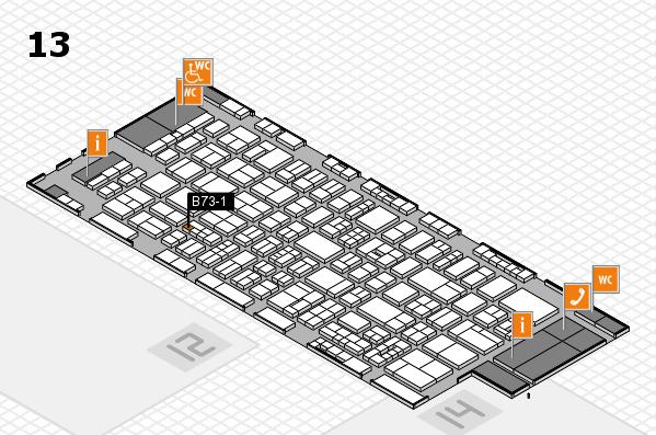 drupa 2016 hall map (Hall 13): stand B73-1