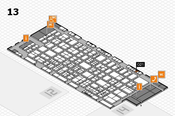 drupa 2016 Hallenplan (Halle 13): Stand G21