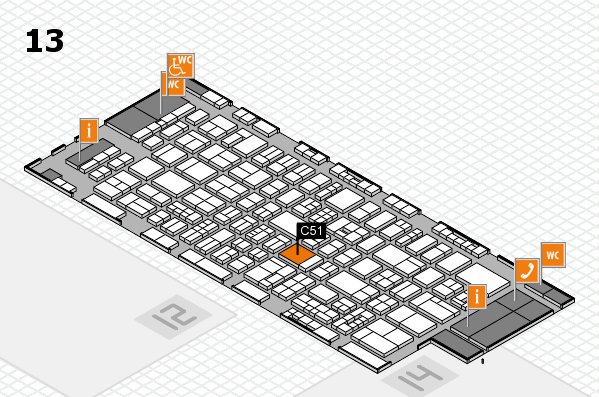 drupa 2016 hall map (Hall 13): stand C51