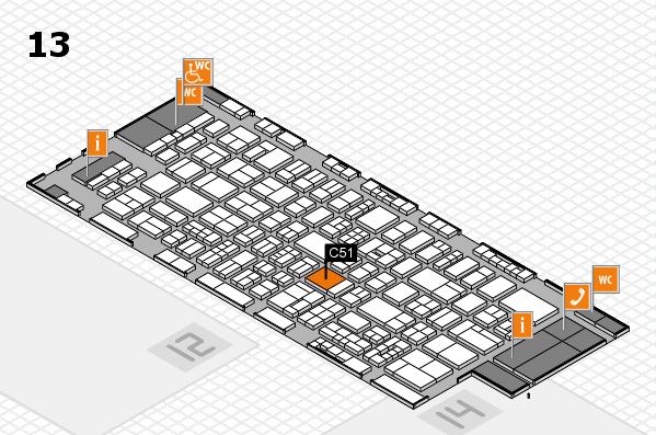 drupa 2016 Hallenplan (Halle 13): Stand C51