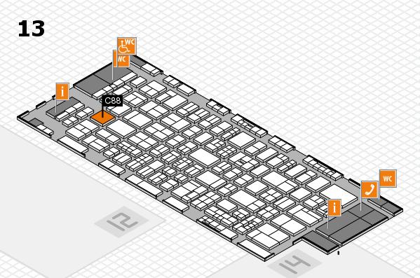 drupa 2016 hall map (Hall 13): stand C88