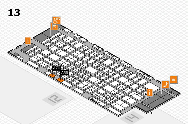 drupa 2016 Hallenplan (Halle 13): Stand A66, Stand A70