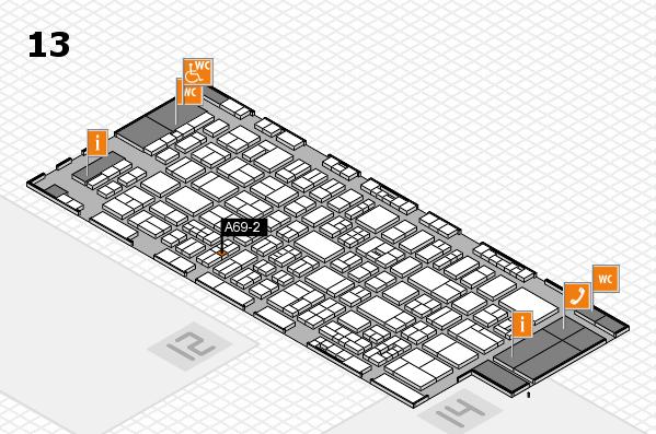 drupa 2016 Hallenplan (Halle 13): Stand A69-2