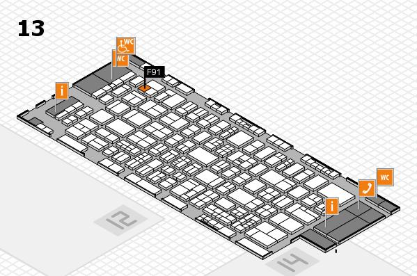 drupa 2016 Hallenplan (Halle 13): Stand F91