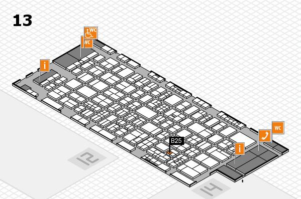 drupa 2016 Hallenplan (Halle 13): Stand B25