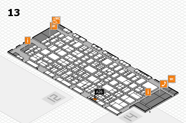 drupa 2016 Hallenplan (Halle 13): Stand A28