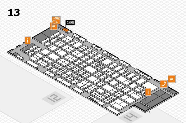 drupa 2016 Hallenplan (Halle 13): Stand G99