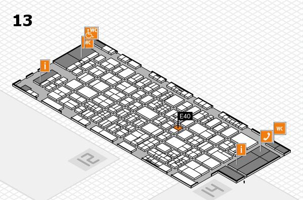 drupa 2016 Hallenplan (Halle 13): Stand E40