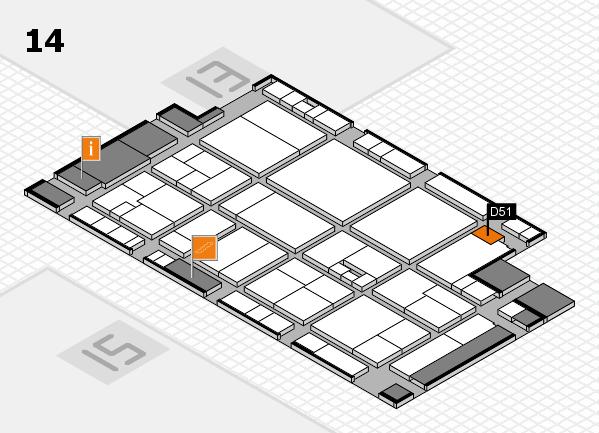 drupa 2016 Hallenplan (Halle 14): Stand D51