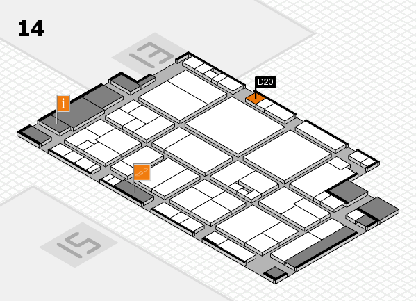 drupa 2016 Hallenplan (Halle 14): Stand D20