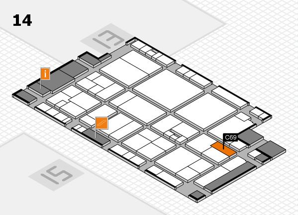 drupa 2016 Hallenplan (Halle 14): Stand C69