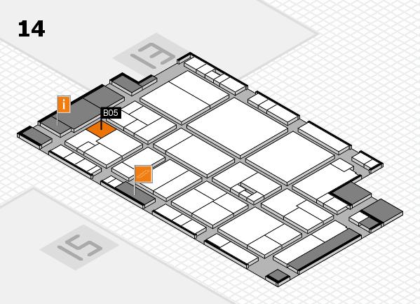 drupa 2016 hall map (Hall 14): stand B05