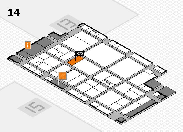 drupa 2016 Hallenplan (Halle 14): Stand B20