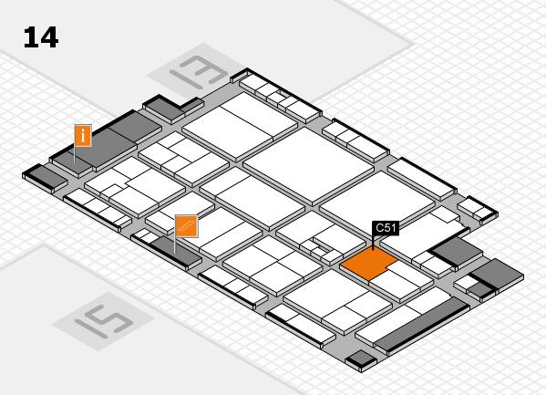 drupa 2016 hall map (Hall 14): stand C51