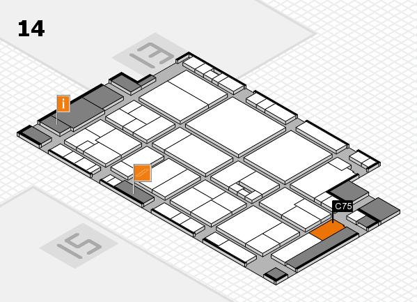 drupa 2016 Hallenplan (Halle 14): Stand C75