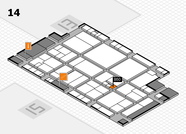 drupa 2016 hall map (Hall 14): stand B50