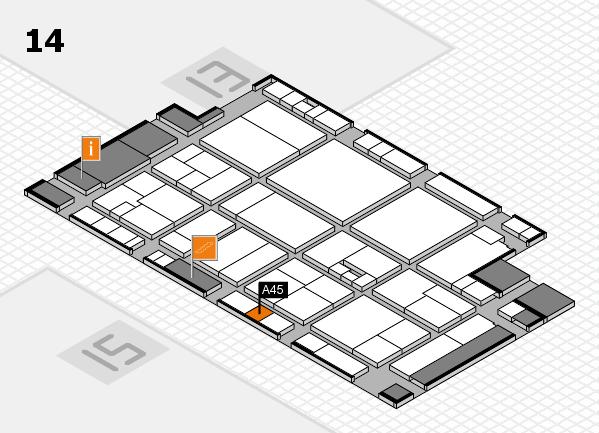 drupa 2016 hall map (Hall 14): stand A45
