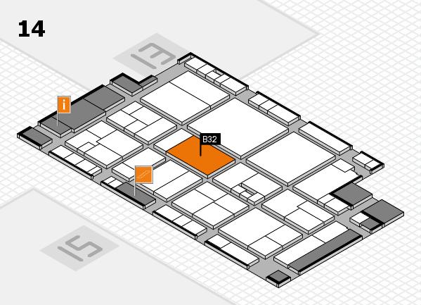 drupa 2016 Hallenplan (Halle 14): Stand B32