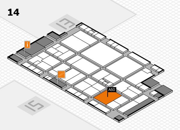 drupa 2016 hall map (Hall 14): stand A50