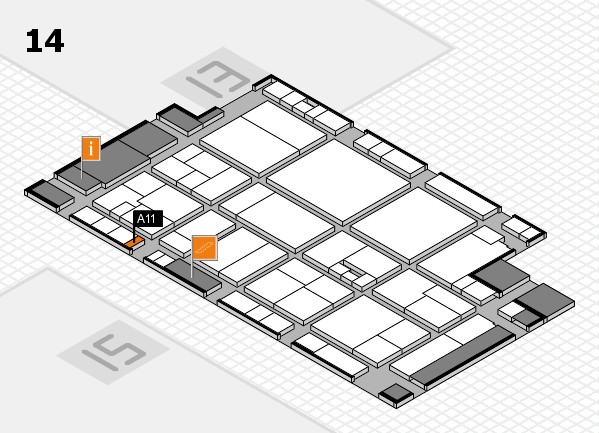 drupa 2016 Hallenplan (Halle 14): Stand A11
