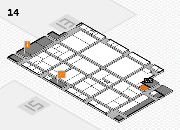 drupa 2016 hall map (Hall 14): stand C70