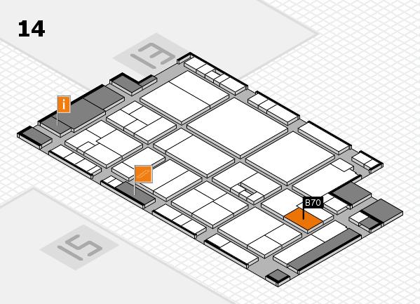drupa 2016 hall map (Hall 14): stand B70