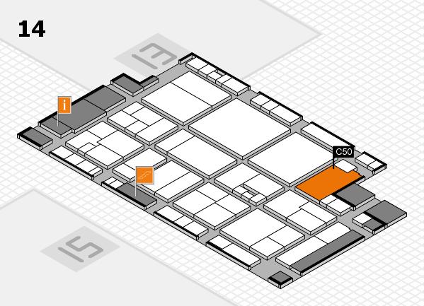 drupa 2016 hall map (Hall 14): stand C50