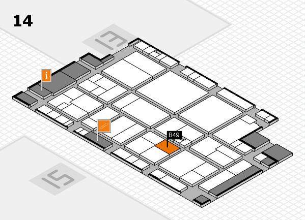 drupa 2016 hall map (Hall 14): stand B49