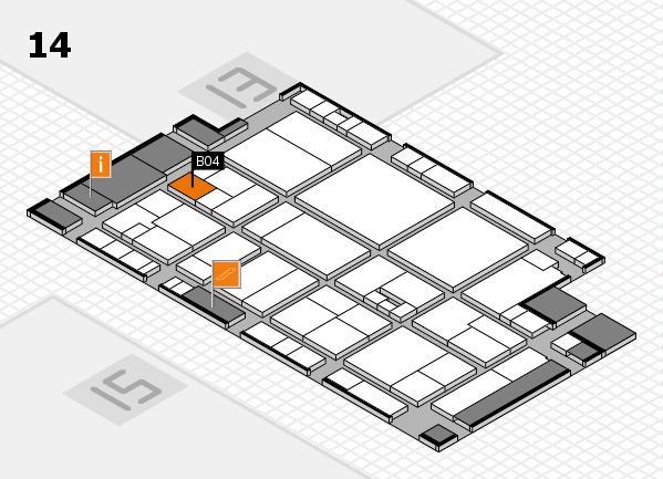 drupa 2016 hall map (Hall 14): stand B04