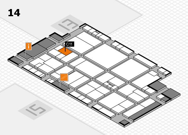drupa 2016 hall map (Hall 14): stand C11