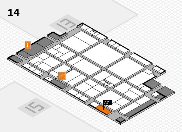 drupa 2016 hall map (Hall 14): stand A71