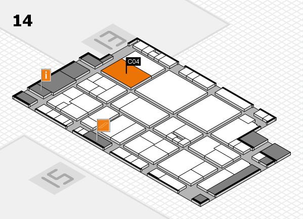 drupa 2016 Hallenplan (Halle 14): Stand C04