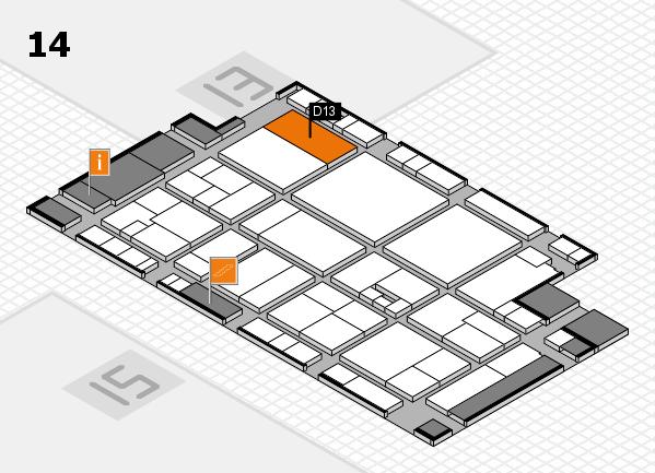 drupa 2016 hall map (Hall 14): stand D13