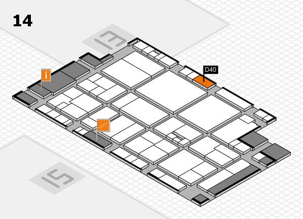 drupa 2016 Hallenplan (Halle 14): Stand D40