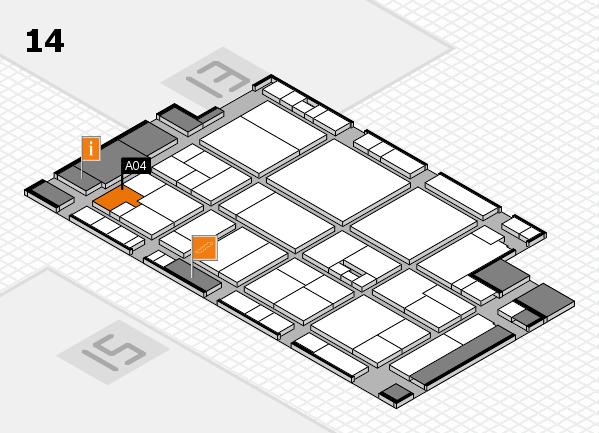 drupa 2016 Hallenplan (Halle 14): Stand A04