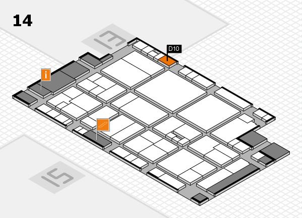 drupa 2016 Hallenplan (Halle 14): Stand D10