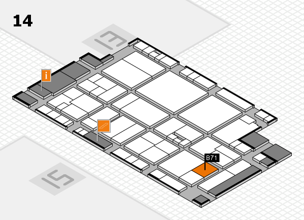 drupa 2016 Hallenplan (Halle 14): Stand B71