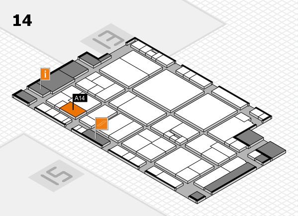 drupa 2016 Hallenplan (Halle 14): Stand A14