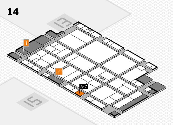 drupa 2016 hall map (Hall 14): stand A47