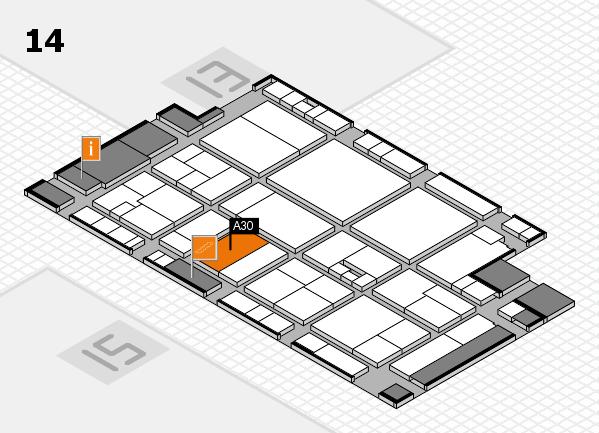 drupa 2016 Hallenplan (Halle 14): Stand A30